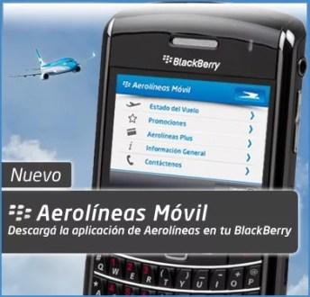 Aerolíneas Móvil en tu Blackberry