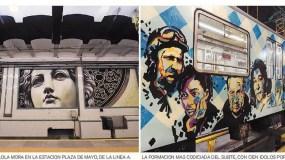 El artista que les puso color y pasión a los túneles del subte Comentar