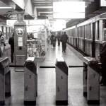 Estación Plaza de Mayo de la Línea A; octubre de 1978.