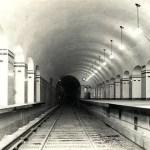 Estación Carlos Pellegrini de la Línea B; se ven las aberturas para ventilación; junio de 1931.