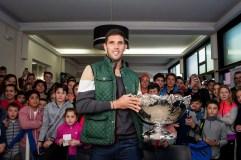 Federico Delbonis presentó la Davis en Azul: La Copa de Todos, en la casa de los campeones