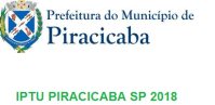 IPTU PIRACICABA SP 2018