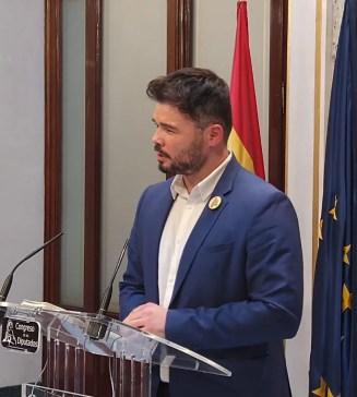 DEBATE DE INVESTIDURA   La intervención de Gabriel Rufián, de ERC, en el debate para la investidura de Pedro Sánchez, en directo