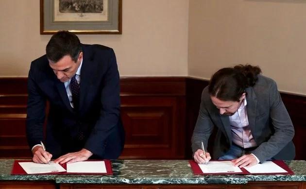 PSOE y Unidas Podemos formación de Gobierno