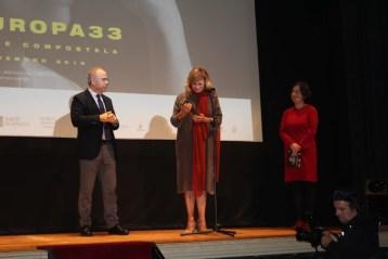 Emma Suárez recoge el premio CineEuropa. Foto: Brian Bujalance (InfoDiario)