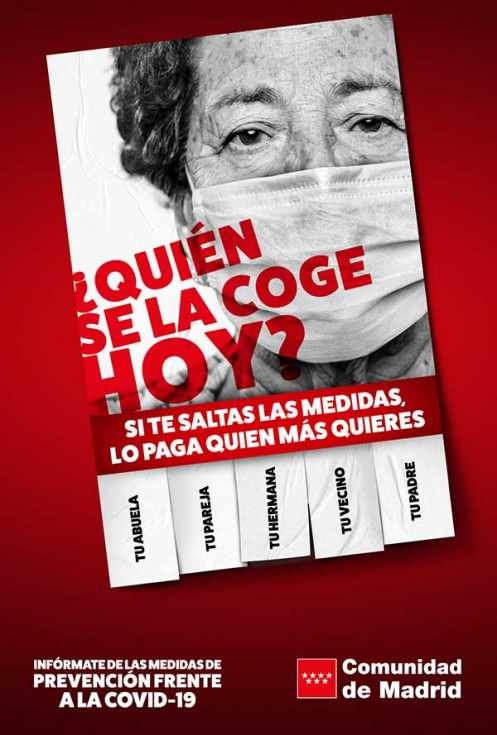 campaña publicidad coronavirus Madrid