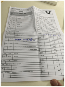 Instructrions de travail papier avant Check'n Go