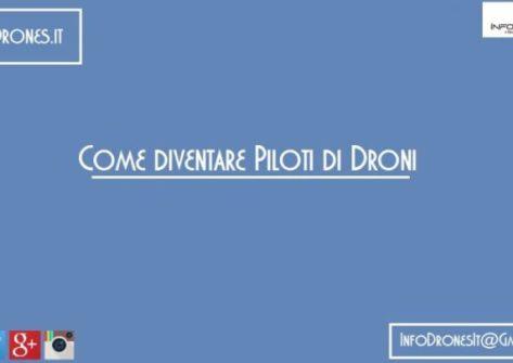 diventare un pilota di droni