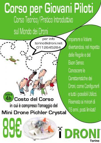 Idroni torino-guida bimbi day-impara a volare divertendoti-costruisci il tuo primo drone-pala alpitour-attestati-drone racer-pichler cristal