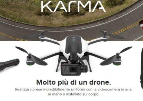 drone gopro-karma-mercato-quadricottero-gps-gopro-hero5-batteria-primavera