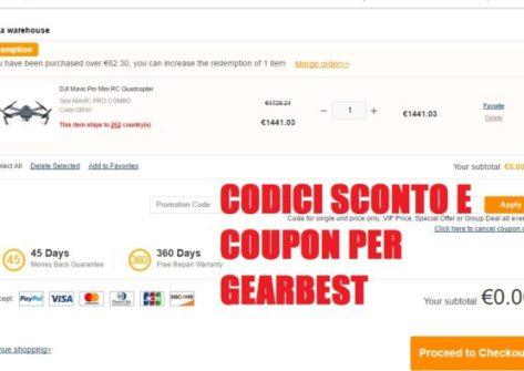come acquistare da gearbest codici coupon-sconti gearbest-coupon gearbest-coupon droni-sconti droni