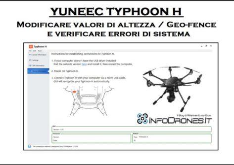 Modificare altezza massima typhoon H-impostare geofence su typhoon h-gui yuneec-guida gui typhoon h-errori sistema typhoon h