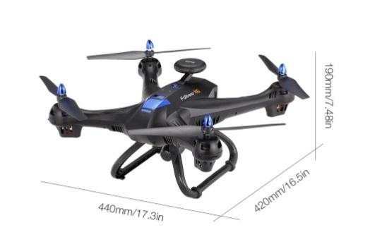 poids global drone x183gps 5.8g fpv écran lcd