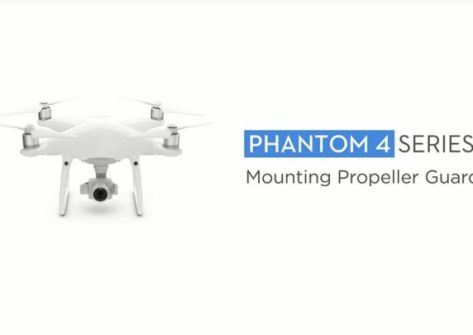 DJI Phantom 4 montaggio para eliche