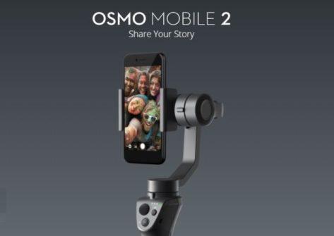 dji osmo mobile 2 ces 2018-stabilizzatore per smartphone-gimbal per smartphone