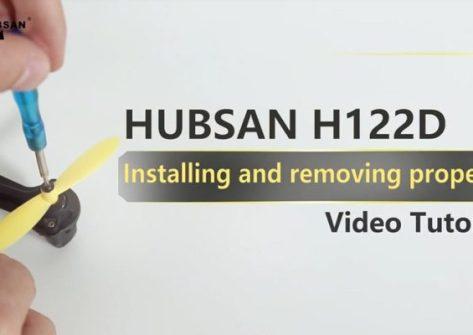 Come montare le eliche nel drone Hubsan H122D