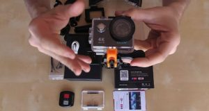 video action cam eken h9r unboxing
