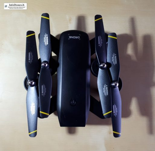 recensione DM IN107S tomtop-selfie drone economico