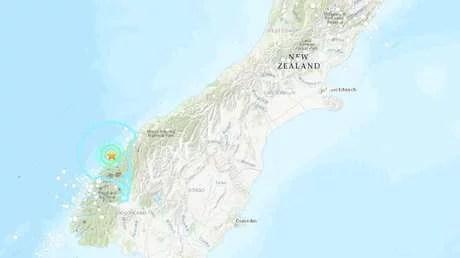 Se registra un sismo de magnitud 5,5 en Nueva Zelanda