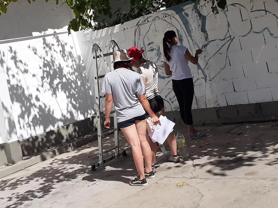 Villa Dolores: comenzó el primer encuentro nacional de muralismo