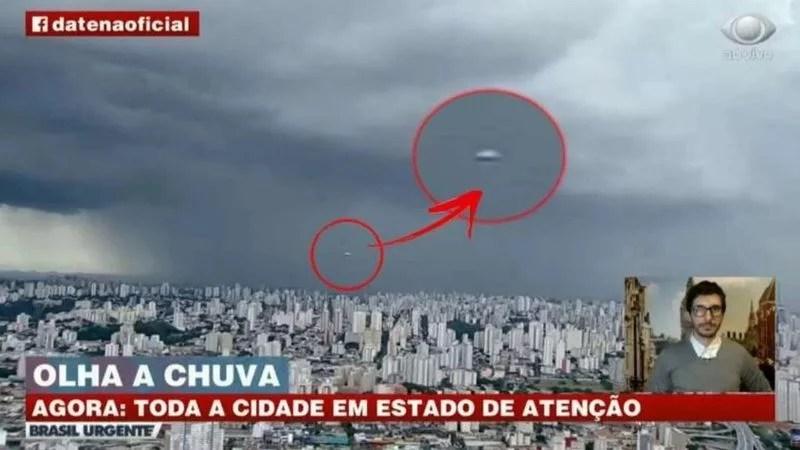 Momento único: apareció un OVNI en el vivo de un noticiero