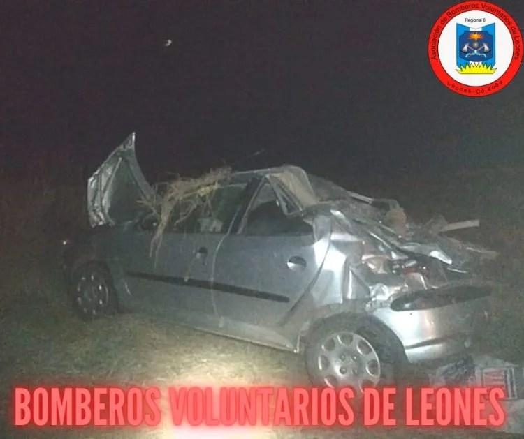 Leones: Accidente fatal sobre Ruta E-59 km 21