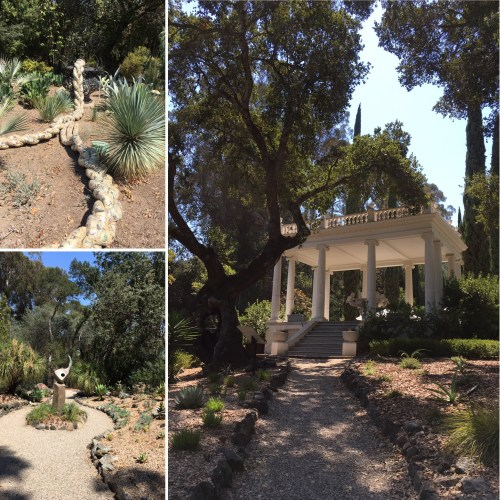 montage of photos of the outside of Villa Montalvo