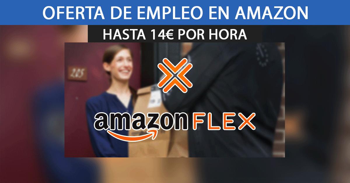 Consigue trabajar en Amazon Flex por 14€/h como repartidor.