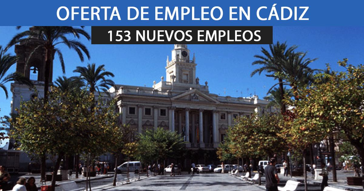 153 nuevos empleos como peones en el Ayuntamiento de Cádiz – Apúntate ahora