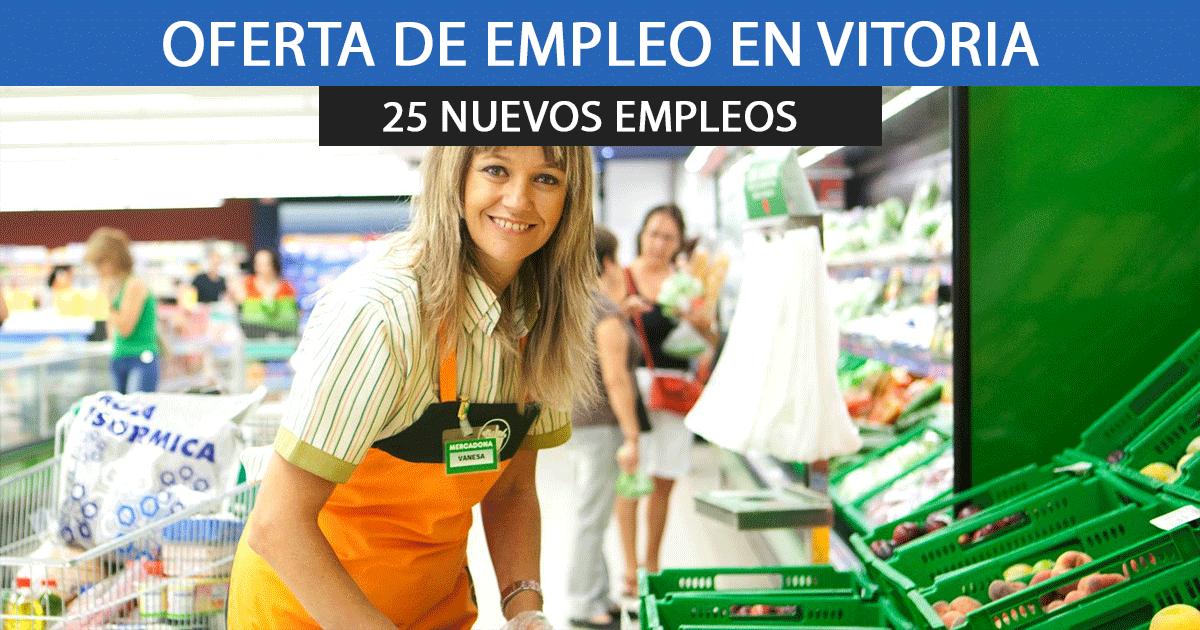Mercadona en Vitoria urge cubrir 25 puestos de empleo en su bloque logístico.