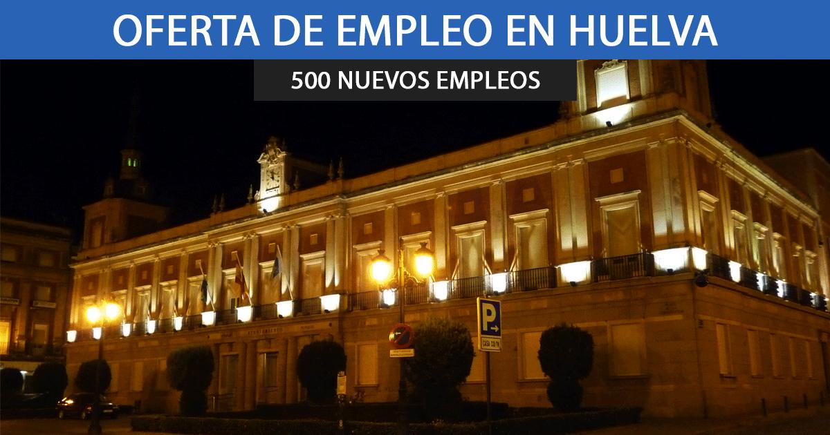 El Ayuntamiento de Huelva publica 500 nuevos empleos.