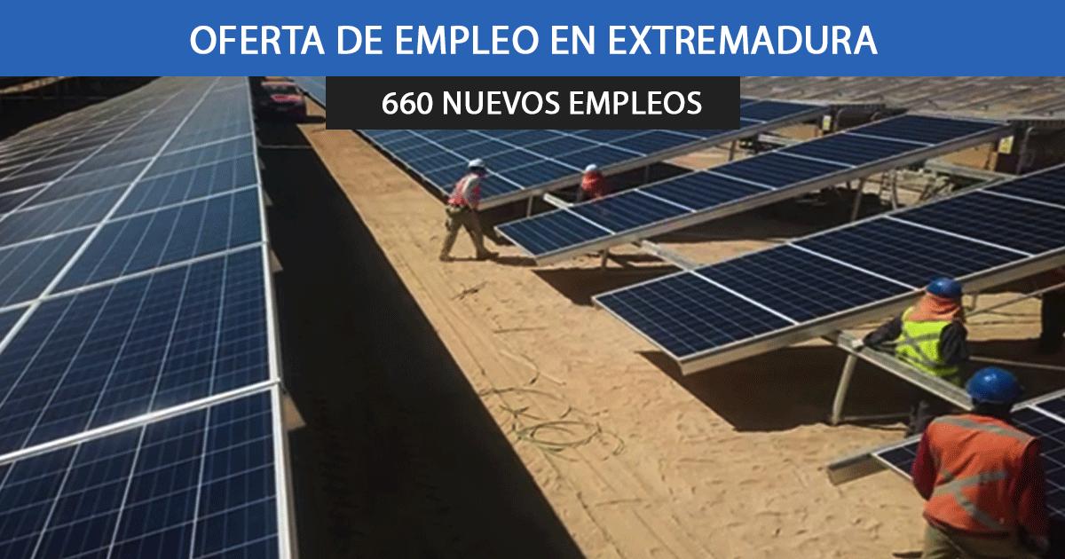 Se necesitan 660 trabajadores para las obras de 6 plantas fotovoltaicas en Extremadura