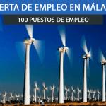 planta eólica en Málaga
