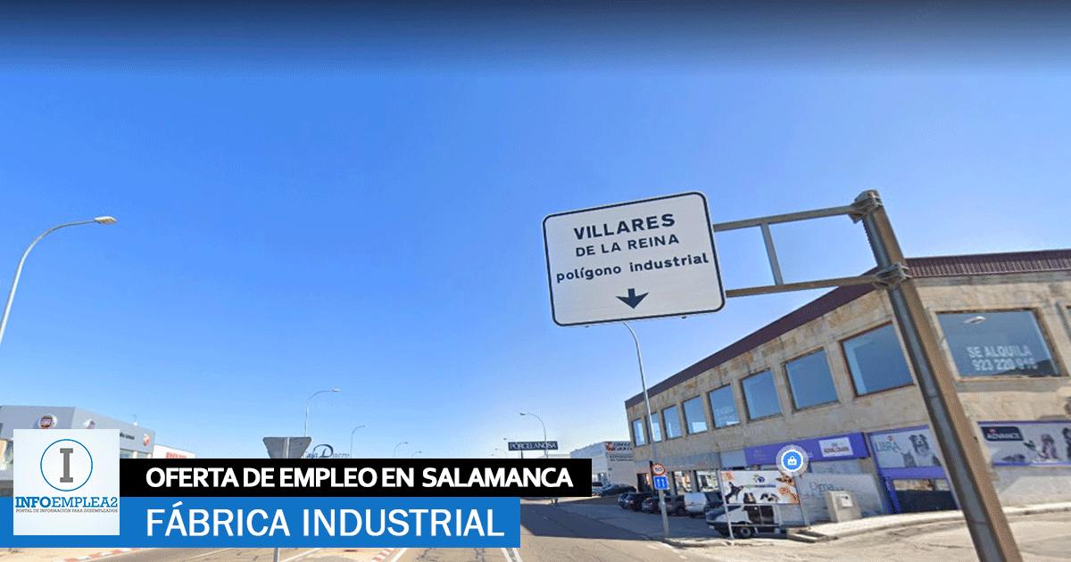 Se necesita Personal para Fábrica Automoción en Salamanca