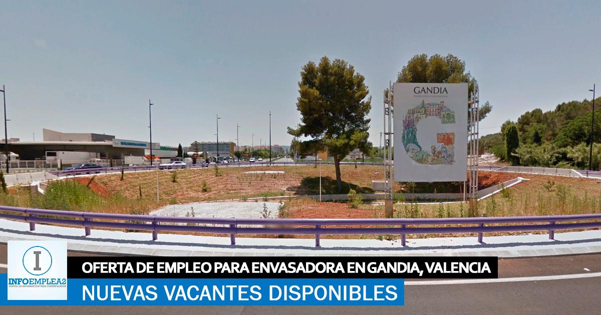 Se necesita Personal para Envasadora en Gandía, Valencia