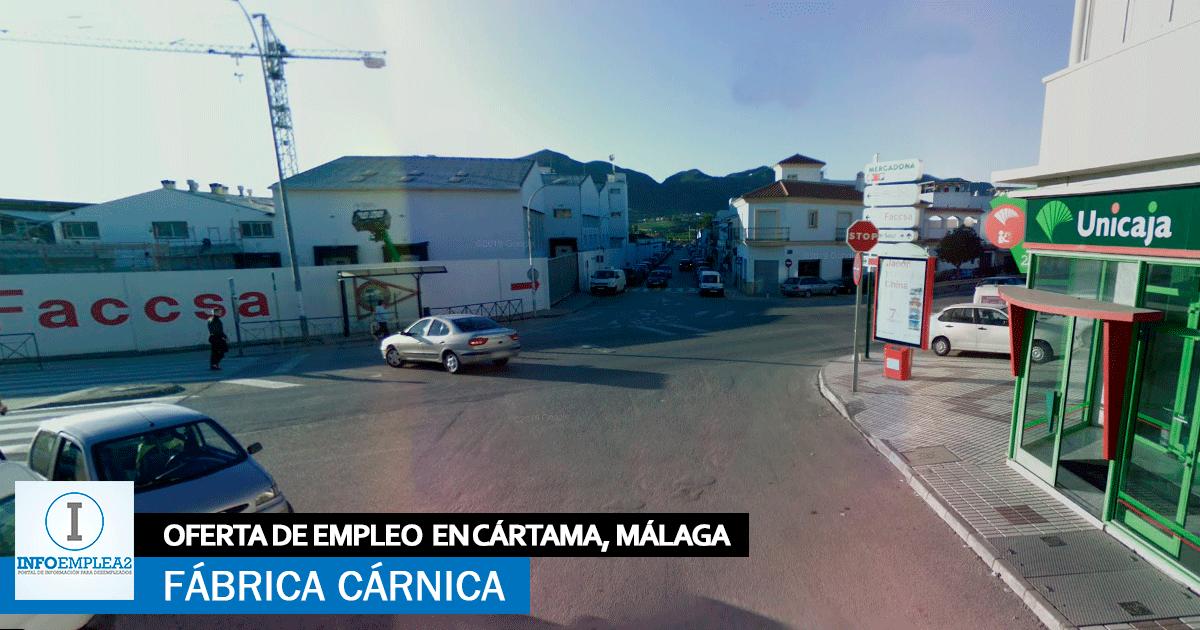 Se necesita Personal para Fábrica Cárnica en Cártama, Málaga