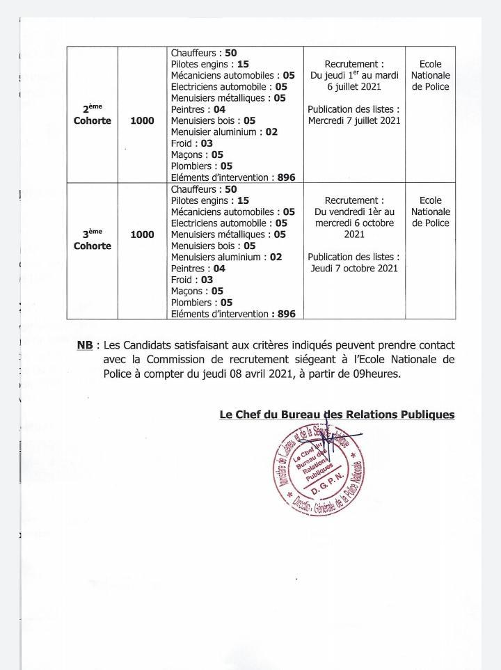 police 2 La police sénégalaise recrute 3000 policiers auxiliaires