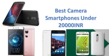 Best Camera Smartphones Under 20000INR