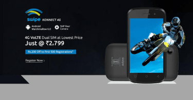 Cheapest 4G Smartphone Swipe Konnect 4G Launched In India