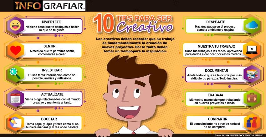 10 TIPS PARA SER CREATIVOS