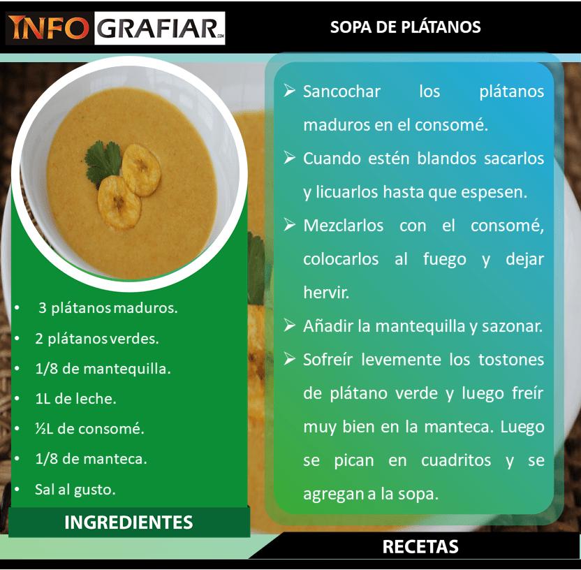 SOPA DE PLÁTANOS