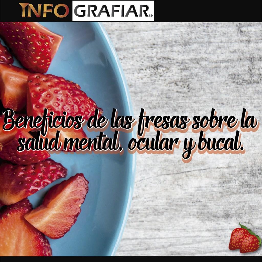 Beneficios de las fresas sobre la salud mental, ocular y bucal.