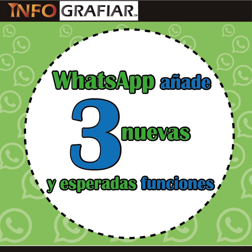 WhatsApp añade 3 nuevas y esperadas funciones