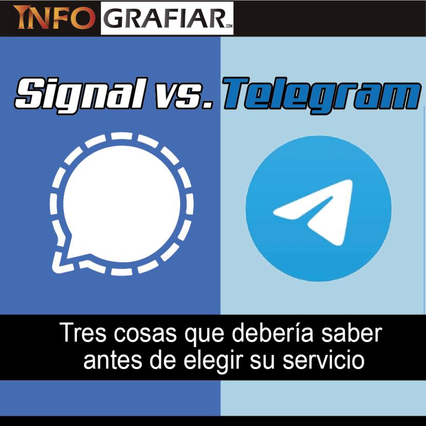 Signal vs. Telegram: Tres cosas que debería saber antes de elegir su servicio