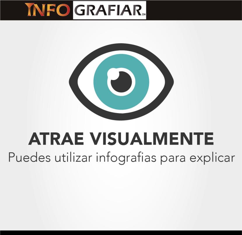 Atrae visualmente, puedes utilizar infografias para explicar