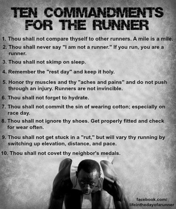 10 Commandments for the Runner