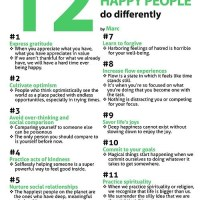Infographic: 12 Things Happy People Do Differently