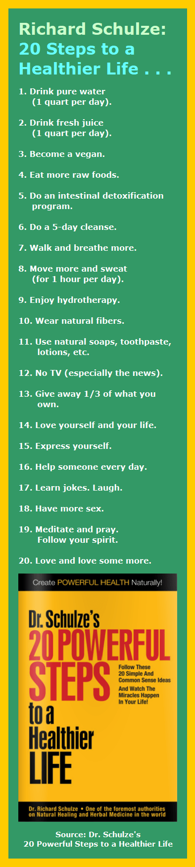 20 Steps to a Healthier You