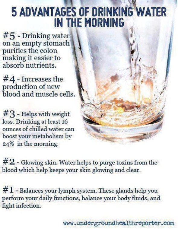 5 Advantages of Drinking Water in the Morning