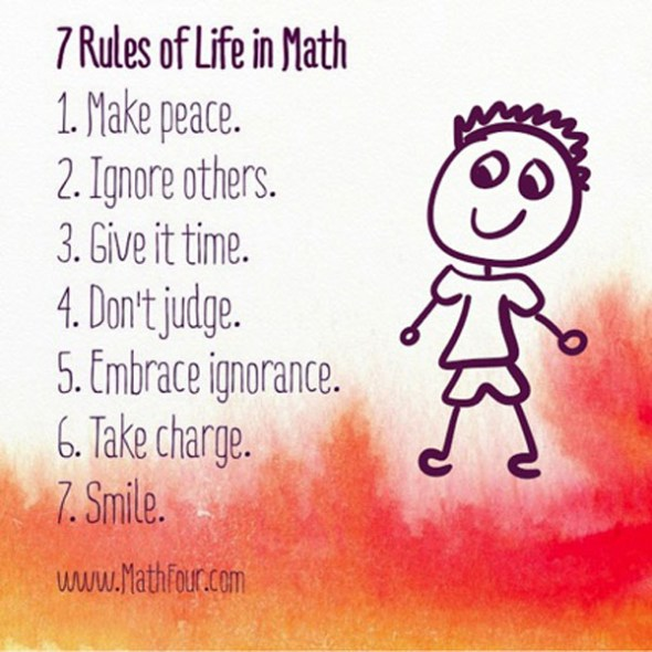 7 Rules of Life in Math
